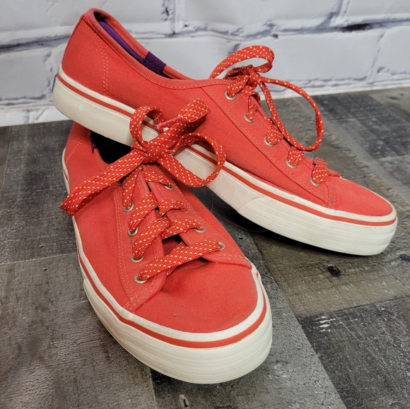 Red Keds with Polka Dot Laces